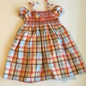 Gymboree Smocked Plaid Dress Size 3T